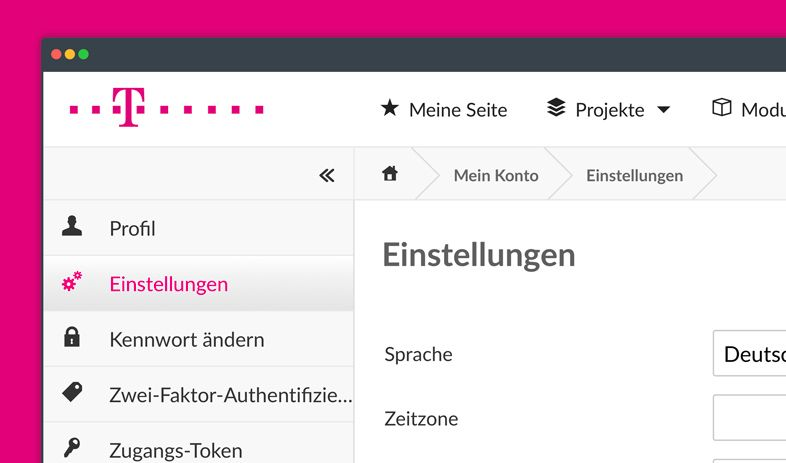 Deutsche Telekom myproject Theme